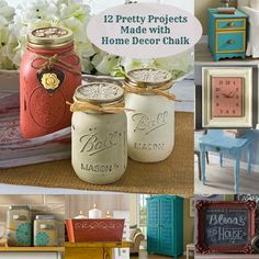 Have you heard of Home Decor Chalk? It gives your furniture and craft projects a smooth, painted finish. Check out these 12 ideas!