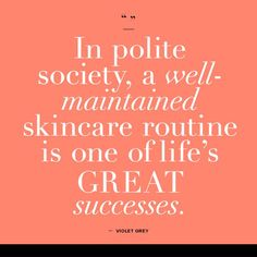 #Skincare is the foundation of your #beautycare routine. http://www.goodreads.com/quotes/tag/skin-care
