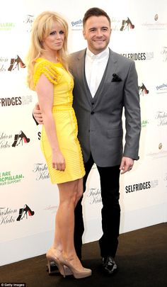 Happy pair: Shane Filan of Westlife fame was in attendance with his wife Gillian, who show...