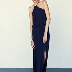 One of our navy halter dresses...