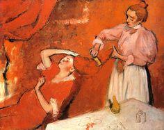 Edgar Degas -La Coiffure-1896