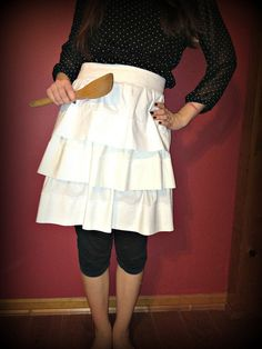 Chloe's birthday apron made from 3 Pillowcases using Morgan Moore's Ruffled Apron Tutorial