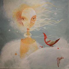 Janka Stašková - aJSha, Meluzina Projects, Painting, Art, Art Background, Blue Prints, Painting Art, Kunst, Paintings, Performing Arts