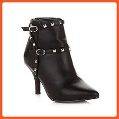 487b11e0f237 DG2 by Diane Gilman Strappy Ankle Bootie with Studs - Black (Size 8M) -