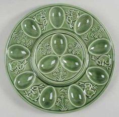 Bordallo Pinheiro Deviled Egg Plate