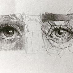 #sketching #eyedrawing #mechanicalpencil #crosshatching