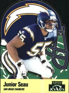 1996 Playoff Prime - X's and O's #193 Junior Seau Front