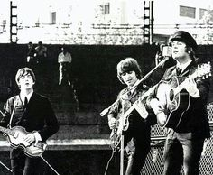 1965 for sure! Beatles Guitar, John Lennon Beatles, All My Loving, Love Me Do, Great Bands, Cool Bands, Good Music, My Music, The Beatles Live