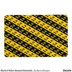 & Yellow Beamed Sixteenth Notes Pattern Case Cover For The iPad 2 3 4 Music Teacher Gifts, Music Teachers, Art Diy, Kitchen Hand Towels, Music Notes, Cool Diy, Black N Yellow, Decoration, Home Gifts
