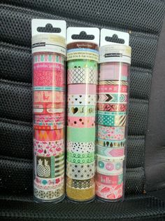 WASHI BUNDLE FOR HAPPY PLANNER, SCRAPBOOKING, CRAFTS AND SO MUCH MORE!! RETAIL VALUES OVER $66!! NEW RELEASES!! BRAND NEW!!  FREE SHIPPING!! usps media mail  2 Tubes of Recollection Washi Tape Rols 15 Washi Tapes Rolls Wach Tube!! 1 Tube of Recollections Washi Tape Rolls 12 Washi Tape Rolls in Tube 42 Washi Rolls in Total!!  Happy Planner Happy Planner Girl Create 365 Me & My Big Ideas Recollections Agenda 52 Elle oh Elle Erin Condren