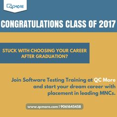 Stuck with choosing your career after gratuation? Join #Software_Testing_Training at QCmore Software Testing Training Institute Kochi and start your dream career with placement in leading MNCs. Enquire us for more info: www.qcmore.com | 9061645458