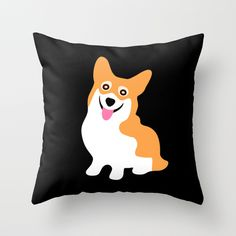 Cute Little Corgi Throw Pillow