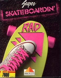 Super Skateboardin' video game for the Atari 7800 (1988) #80s #design #retro
