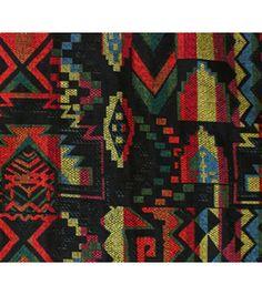 Sportswear - Aztec Jacquard Bright Black Poly Cotton