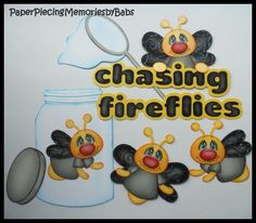 Premade Paper Pieced Chasing Fireflies Set for Scrapbook Pages by Babs | eBay