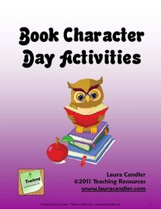 Book Character Day Activities freebie! Fun ideas for the end of the year!