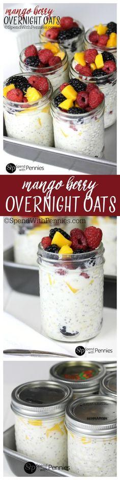 Mango Berry Overnight Oats