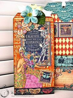 Midnight Masquerade Savor Life Triple Pocket Tag Album by Kathy Clement for Frilly and Funkie Friday Focus on Graphic 45 Photo 9 - Kathy by Design