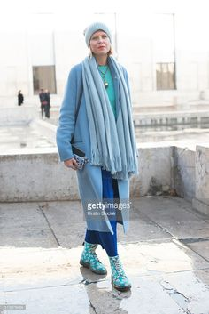 Fashion Stylist Elisa Nalin wears a Dr Martens shoes on day 2 during Paris Fashion Week Autumn/Winter 2016/17 on March 2, 2016 in Paris, France. (Photo by Kirstin Sinclair/Getty Images)Elisa Nalin