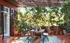 design italien : aménagement extérieur de terrasse