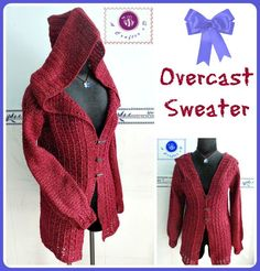 Love the hood on this crochet cardigan.