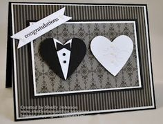 Black & white Wedding card