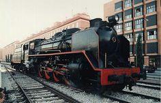 Locomotora Mikado 1-4-1, de gran potencia, utilizada por Renfe.