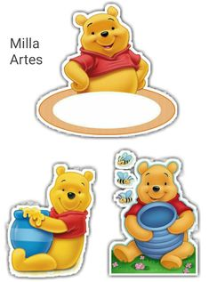 Winnie The Pooh Cake, Winnie The Pooh Birthday, Winnie The Pooh Friends, Disney And More, Silhouette Projects, Baby Shower Decorations, Smurfs, Cake Toppers, Free Printables