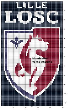 sport - football - lille - point de croix - cross stitch - Blog : http://broderiemimie44.canalblog.com/
