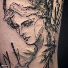 Tattooer Nadi | Seoul Korea CONCEPT : Athena Greek goddess of...