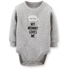 Halloween Mummy Bodysuit Carter's ❤ liked on Polyvore featuring baby
