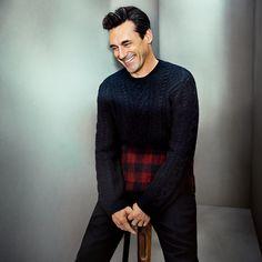 Mr Jon Hamm for MR PORTER wearing Valentino Sweater and Berluti Trousers.