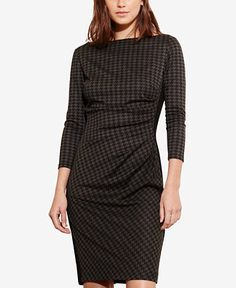 Lauren Ralph Lauren Houndstooth Ponte Dress - Lauren Ralph Lauren Dresses - Women - Macy's