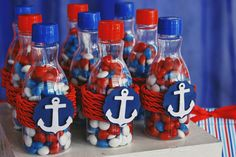 Excellent simple ideas for your inspiration Sailor Birthday, Sailor Party, Sailor Theme, Baby Birthday, Baby Shower Themes, Baby Boy Shower, Nautical Party, Boy Birthday Parties, First Birthdays