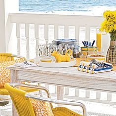 Sit back, relax, enjoy the view and food! Nothing like living on the coast! Contact MartinSalesGroup.com when you want a Palm Beach Coastal Home!    The Perfect Power Breakfast | The Menu | Coastal Living | http://www.coastalliving.com/food/kitchen-assistant/beachside-breakfast-00414000075959/