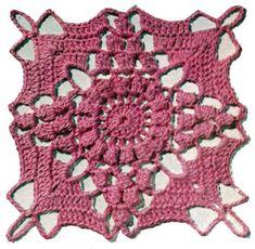 California Modern Bedspread Pattern motif - free vintage crochet pattern