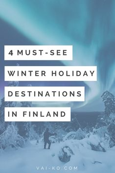 4 Must see Winter Holiday Destinations in Finland. Skiing snowboarding hiking camping in winter snow. Winter Wonderland Destinations in Scandinavia. Finland Destinations, Vacation Destinations, Dream Vacations, Ski And Snowboard, Snowboarding, Skiing, Winter Holiday Destinations, Winter Holidays, Winter Snow