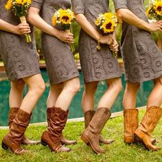 rustic sunflower centerpieces | yellow wedding bridal bouquets, bridesmaid bouquets, centerpieces