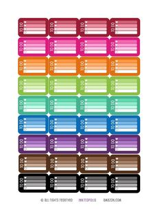 Amazon.com: Monthly Planner Stickers Rainbow To Do Checklist Stickers Planner Labels Compatible with Erin Condren Vertical Life Planner