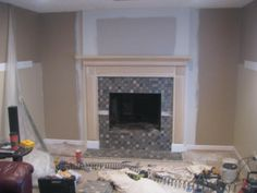 Brick Fireplace Surround | ... Fireplace Photos - Add space and value to your home - Remodeled Brick