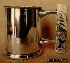Whaler's Mug with ivory handle, opposite side. By David Pudelwitts-St. Albans 1982