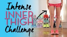 Intense INNER THIGH Challenge! - Omg this is probably the most difficult workout I've ever done!