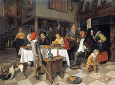 """A Twelfth Night Feast: The King Drinks"" by Jan Steen (1665)"
