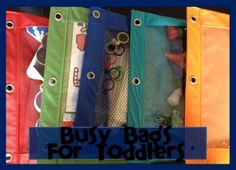 I'm obsessed with busy bags!  These are great ideas.