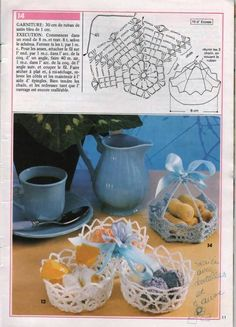 koszyczek na szydełku, koszyczki, 40 wzorów i schematów - szydełkowe koszyczki , schematy szydełkowe, szydełkowe, patterns Crochet Leaf Patterns, Crochet Leaves, Doily Patterns, Crochet Chart, Crochet Motif, Crochet Doilies, Free Crochet, Crochet Vase, Diy Crochet Basket