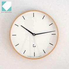 KATOMOKU km-15シリーズ アラーム 電波時計 壁掛け ステップ式掛時計 日本製 / FavoriteStyle