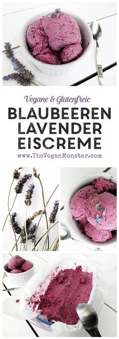 Vegane Glutenfreie Milchfreie Zuckerfreie Blaubeer Lavender Eiscreme Rezept