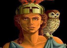 "know your Pagan gods. Athena Goddess The description of Minerva or Athena emphasizes her talent with ""cr. Minerva Goddess, Minerva Owl, Athena Goddess Of Wisdom, Goddess Pagan, Roman Gods, Greek Gods And Goddesses, Deities, Creatures, Computer Art"