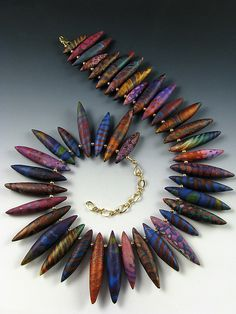 Shibori bead necklace by Judy Dunn.  Never saw anything quite so beautiful! Does anyone have beads like this for sale?