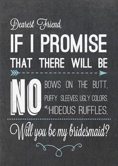Bridesmaid Invite Chalkboard w Blue DIY If by WonderWomanBoutique, $7.00